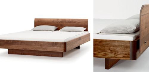 ... Sondern Aus Einem Umlaufenden Gefrästen Und Gesägten Massivholzband  Gefertigt. Dieses Wunderbare Bett Erhalten Sie In Nussbaum Oder Kernbuche.